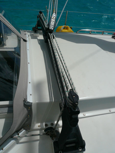The Harken Traveler system I installed