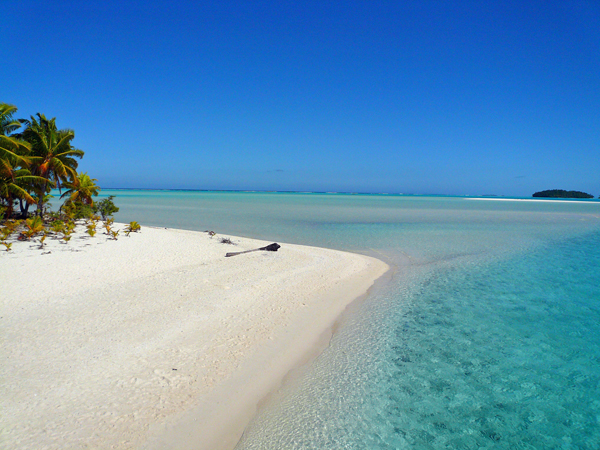 One Foot Island in the Aitutaki Lagoon.  Still one of our favorite places on Earth!